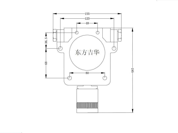 硫化氢检测仪探头安装尺寸